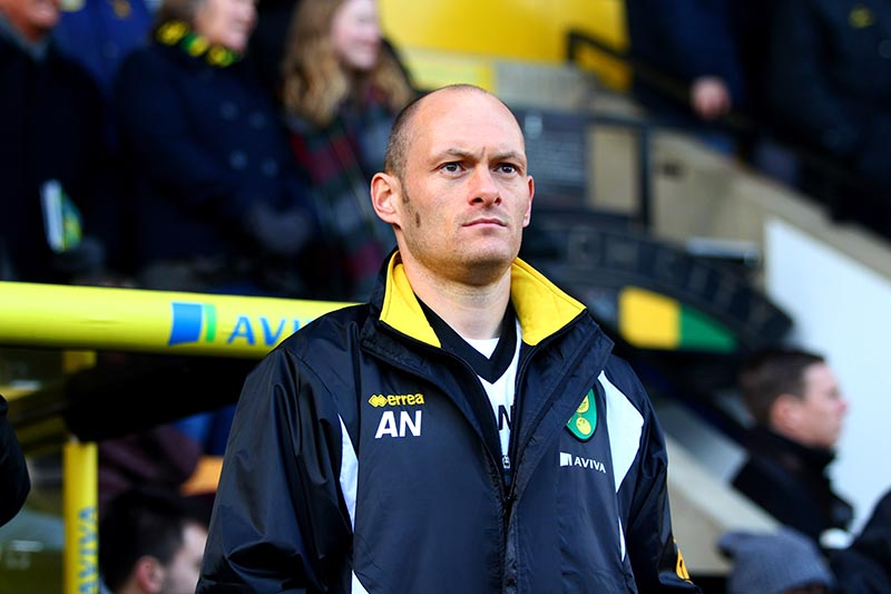 24 January 2015 - Championship - Norwich v Brentford The new manager of Norwich City, Alex Neil Photo: Charlotte Wilson