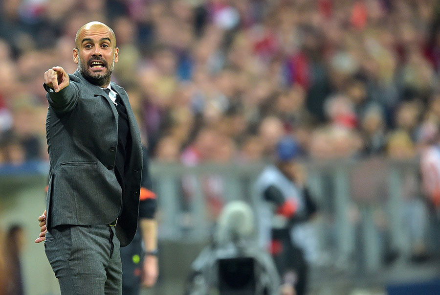 21 April 2015 - Champions League Quarter-Final - FC Bayern Munich v FC Porto Bayern Munich manager Josep ''Pep'' Guardiola  Photo: Offside / Witters