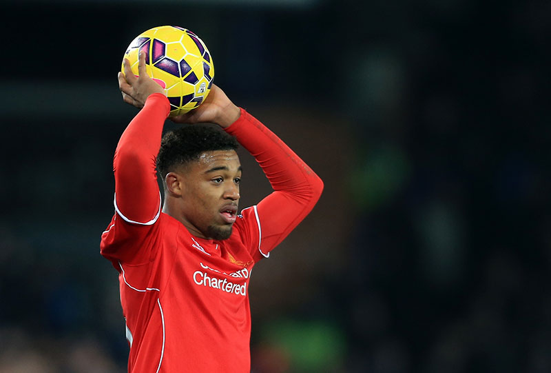 7th February 2015 - Barclays Premier League - Everton v Liverpool - Jordon Ibe of Liverpool waits to take a throw-in - Photo: Simon Stacpoole / Offside.
