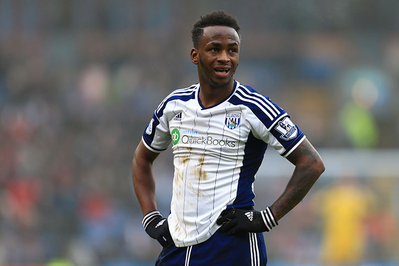 8th February 2015 - Barclays Premier League - Burnley v West Bromwich Albion - Saido Berahino of West Brom looks dejected - Photo: Simon Stacpoole / Offside.