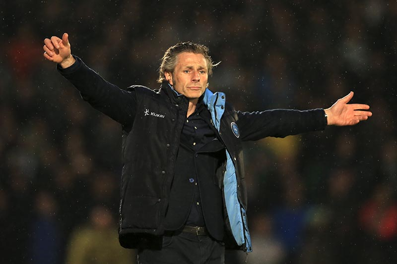 14 May 2015 - Sky Bet League Two - Play-Off Semi-Final 2nd Leg - Wycombe Wanderers v Plymouth Argyle - Gareth Ainsworth, Manager of Wycombe Wanderers - Photo: Marc Atkins / Offside.