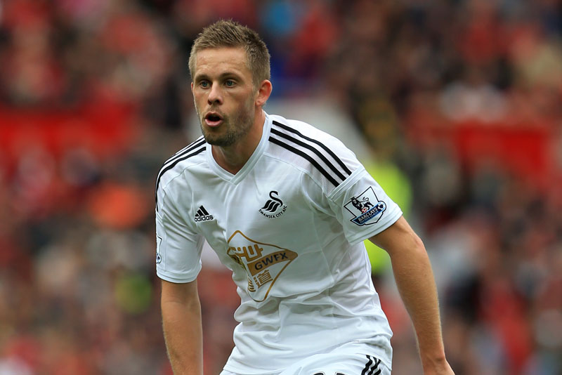 16th August 2014 - Barclays Premier League - Manchester United v Swansea City - Gylfi Sigurdsson of Swansea - Photo: Simon Stacpoole / Offside.