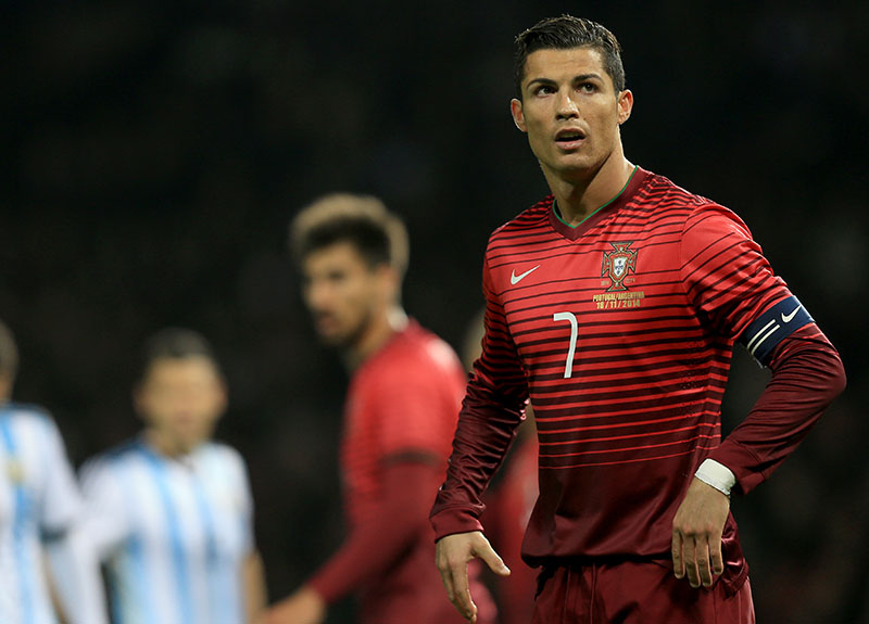 18 November 2014 - International Friendly - Argentina v Portugal - Cristiano Ronaldo of Portugal - Photo: Marc Atkins / Offside.