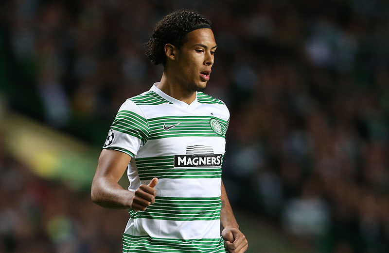1st October 2013 - UEFA Champions League (Group H) - Celtic v FC Barcelona - Virgil van Dijk of Celtic - Photo: Simon Stacpoole / Offside.