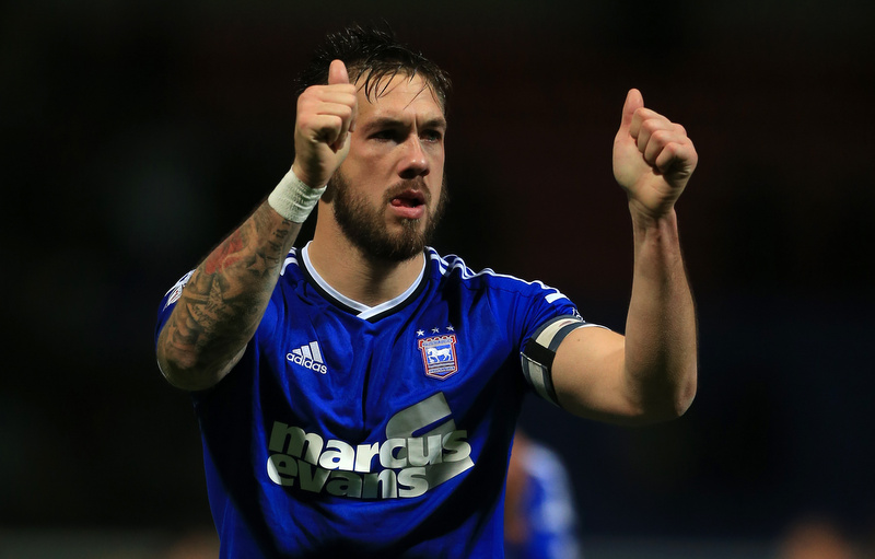 13th December 2014 - Sky Bet Championship - Bolton Wanderers v Ipswich Town - Luke Chambers of Ipswich gives the thumbs up - Photo: Simon Stacpoole / Offside.