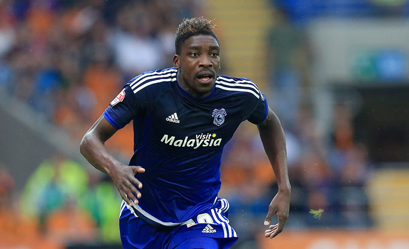 22nd August 2015 - Skybet Championship - Cardiff City v Wolverhampton Wanderers - Sammy Ameobi of Cardiff City - Photo: Paul Roberts / Offside.