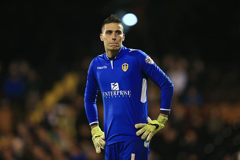 18 March 2015 - Sky Bet Championship - Fulham v Leeds United - Marco Silvestri of Leeds United - Photo: Marc Atkins / Offside.