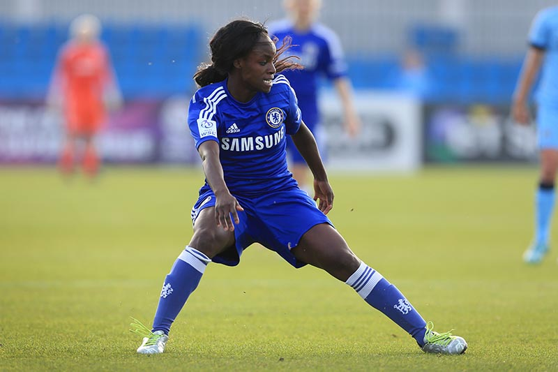 12th October 2014 - FA Women's Super League - Manchester City Women v Chelsea Ladies - Eniola Aluko of Chelsea - Photo: Simon Stacpoole / Offside.