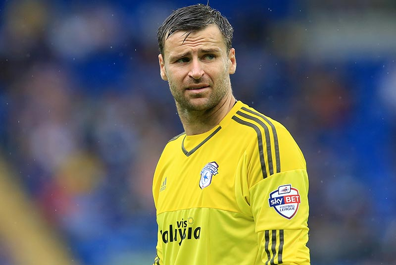 22nd August 2015 - Skybet Championship - Cardiff City v Wolverhampton Wanderers - David Marshall of Cardiff City - Photo: Paul Roberts / Offside.