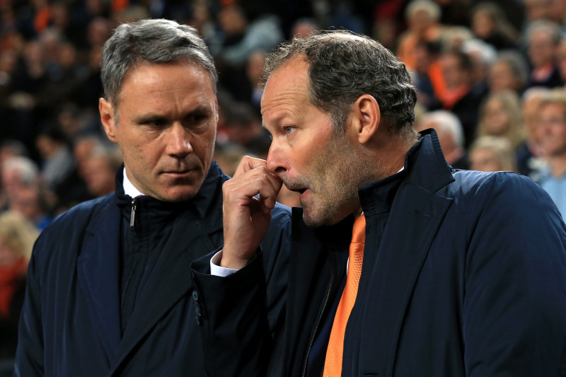 - Netherlands v Czech Republic - Netherlands coach Danny Blind (R) and assistant Marco van Basten - Photo: Simon Stacpoole / Offside.