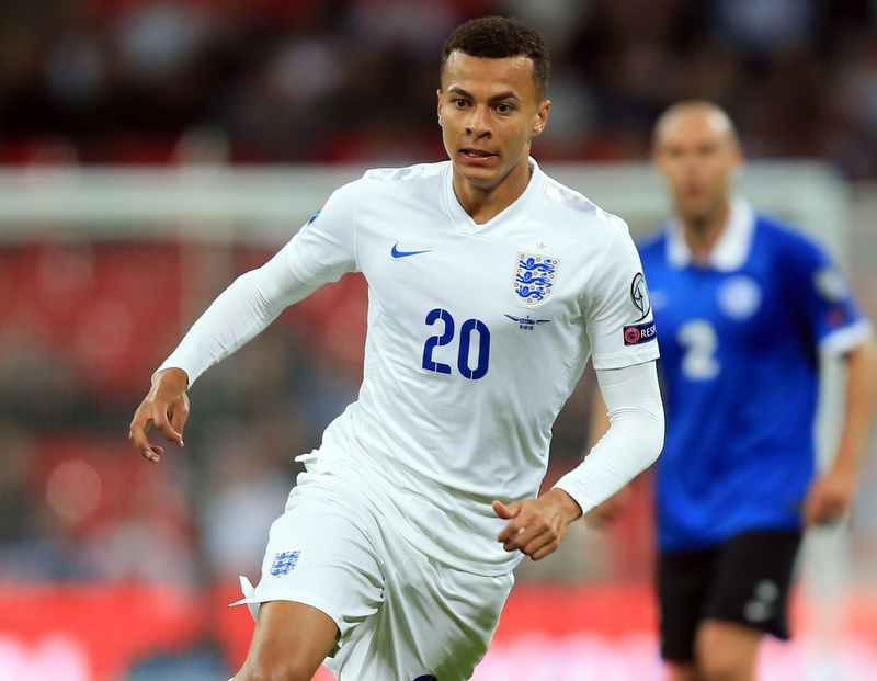 9 October 2015 - UEFA European Qualifying (Group E) - England v Estonia - Dele Alli of England - Photo: Marc Atkins / Offside.