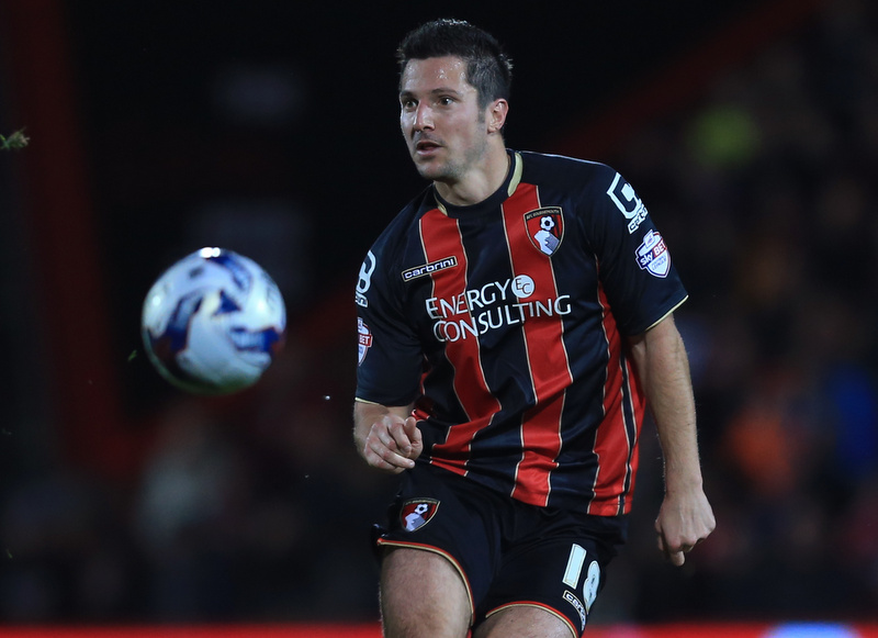 17 December 2014 - Capital One Cup Quarter Final - Bournemouth v Liverpool - Yann Kermorgant of Bournemouth - Photo: Marc Atkins / Offside.
