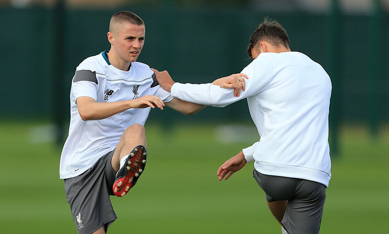 30th September 2015 - UEFA Europa League - Group B - Liverpool Training - Jordan Rossiter - Photo: Simon Stacpoole / Offside.