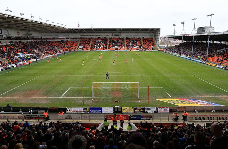 2nd May 2015 - Sky Bet Championship - Blackpool v Huddersfield Town - A general view (GV) of Bloomfield Road - Photo: Simon Stacpoole / Offside.
