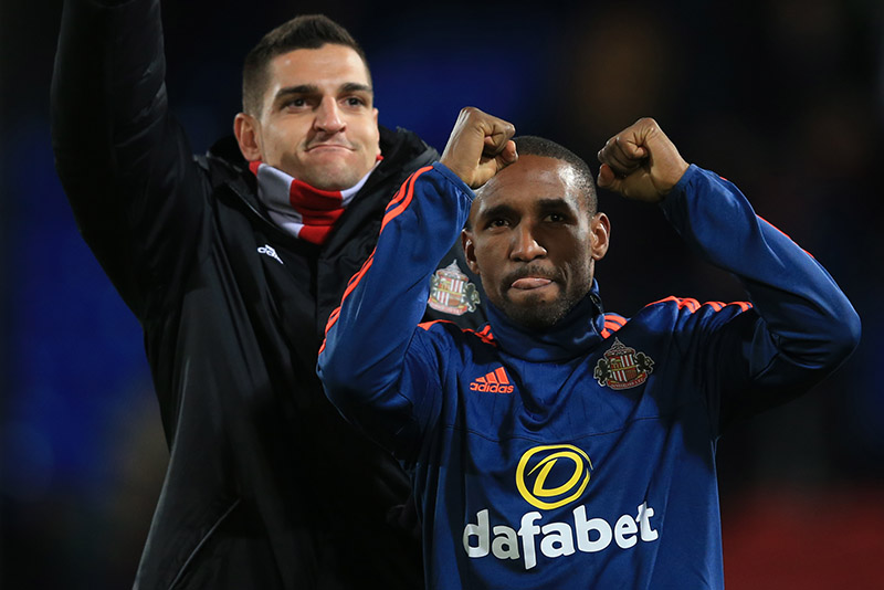 23 November 2015 - Barclays Premier League - Crystal Palace v Sunderland - Jermain Defoe of Sunderland celebrates the win - Photo: Marc Atkins / Offside.