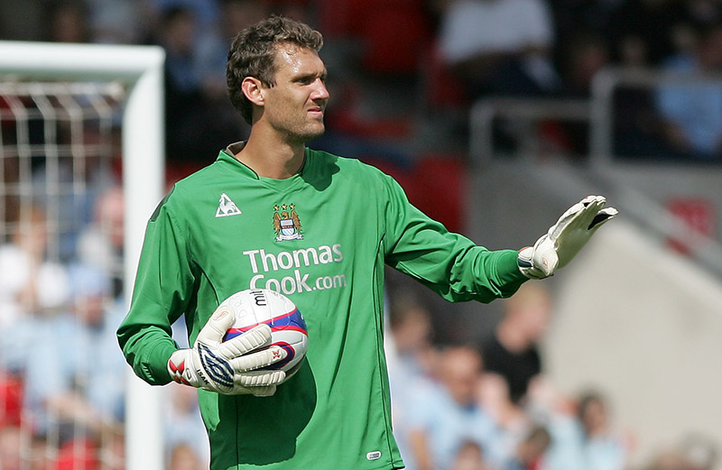 14/07/2007 Friendly Football Match - Doncaster Rovers v Manchester City XI. Manchaster City goalkeeper Andreas Isaksson. Photo: Matt Roberts/Offside