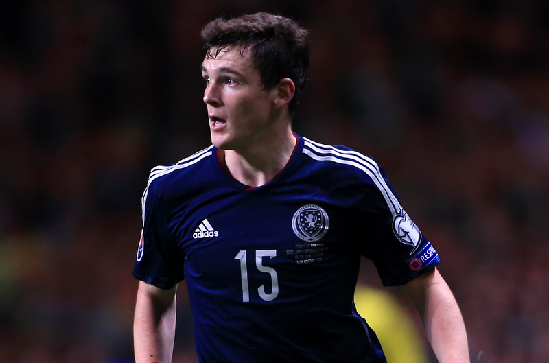 14th November 2014 - European Championship Qualifying (Group D) - Scotland v Republic of Ireland - Andrew Robertson of Scotland - Photo: Simon Stacpoole / Offside.