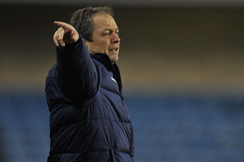 Millwall vs Sheffield Wednesday @ The Den 24-02-2015 Wed's Boss Stuart Gray