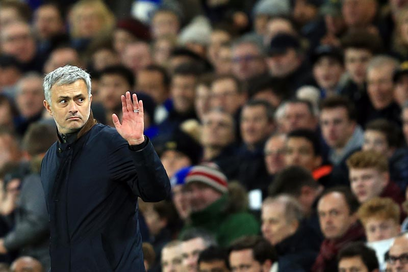 9 December 2015 - UEFA Champions League (Group G) - Chelsea v FC Porto - Jose Mourinho, Manager of Chelsea acknowledges the fans - Photo: Marc Atkins / Offside.