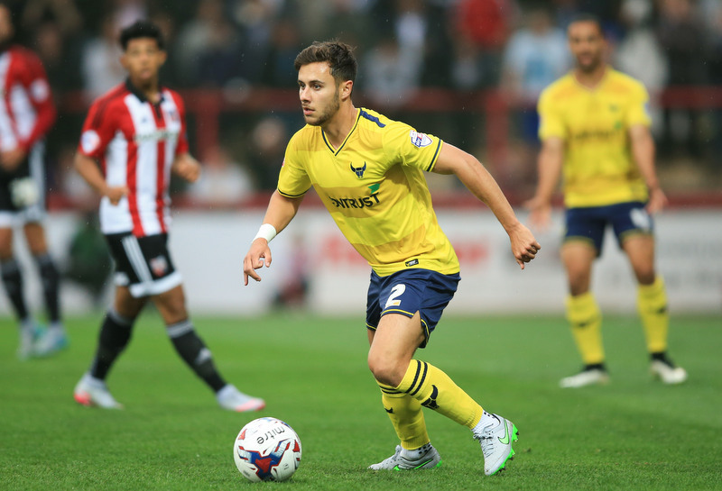 11 August 2015 - Capital One Cup - First Round - Brentford v Oxford United - George Baldock of Oxford United - Photo: Marc Atkins / Offside.