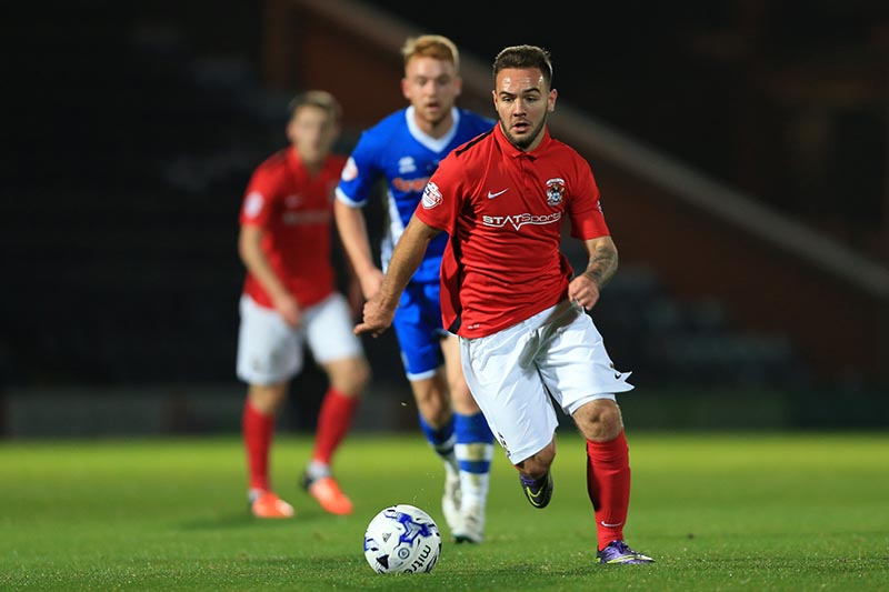 20th October 2015 - Sky Bet League 1 - Rochdale v Coventry City - Adam Armstrong of Coventry - Photo: Simon Stacpoole / Offside.