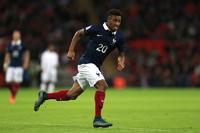 17 November 2015 - International Friendly  - England v France - Kingsley Coman of France - Photo: Marc Atkins / Offside.