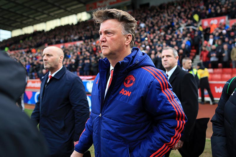 26th December 2015 - Barclays Premier League - Stoke City v Manchester United - Man Utd manager Louis van Gaal - Photo: Simon Stacpoole / Offside.