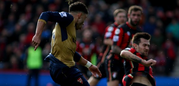 Oxlade-Chamberlain takes his chance against the Cherries