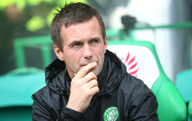 GLASGOW, SCOTLAND - AUGUST 16:  Celtic manager Ronny Delia looks on during the Scottish Premiership League Match between Celtic and Dundee United, at Celtic Park on August 16, 2014 Glasgow, Scotland. (Photo by Ian MacNicol/Getty Images)