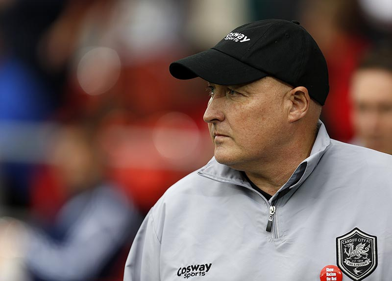 18th October 2014 - Skybet Championship - Cardiff City v Nottingham Forest - Cardiff manager Russell Slade - Photo: Paul Roberts / Offside.
