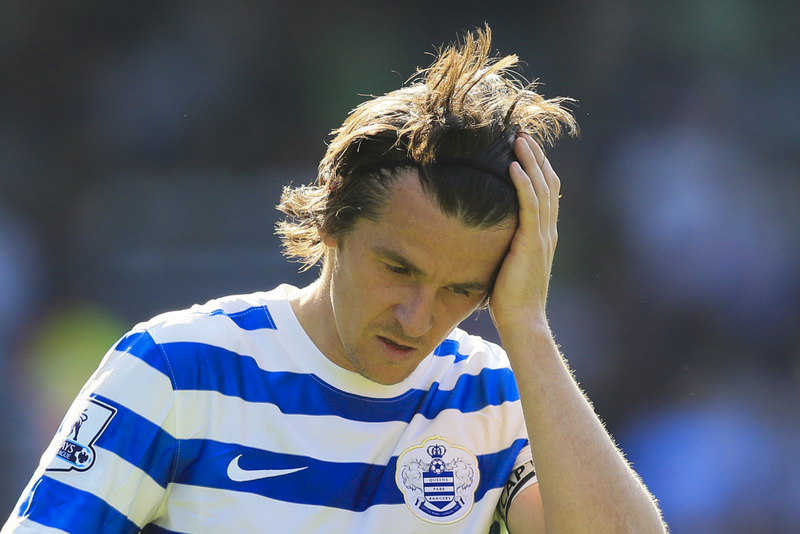 16 May 2015 - Barclays Premier League - QPR v Newcastle United - A dejected Joey Barton of QPR - Photo: Marc Atkins / Offside.