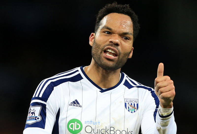 3rd March 2015 - Barclays Premier League - Aston Villa v West Bromwich Albion - Joleon Lescott of West Brom gives the thumbs up - Photo: Simon Stacpoole / Offside.