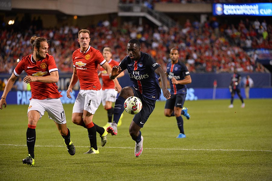 29 July 2015 - International Champions Cup - PSG v Manchester United FOOT - INTERNATIONAL CHAMPIONS CUP - 2015 blind (daley) augustin (jean kevin)