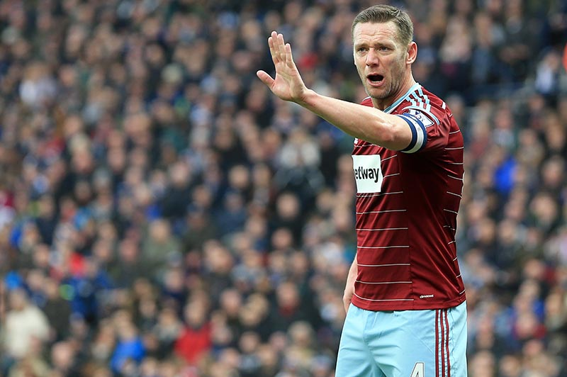14th February 2015 - FA Cup 5th Round - West Bromwich Albion v West Ham United - Kevin Nolan of West Ham United issues instructions at a corner - Photo: Paul Roberts / Offside.