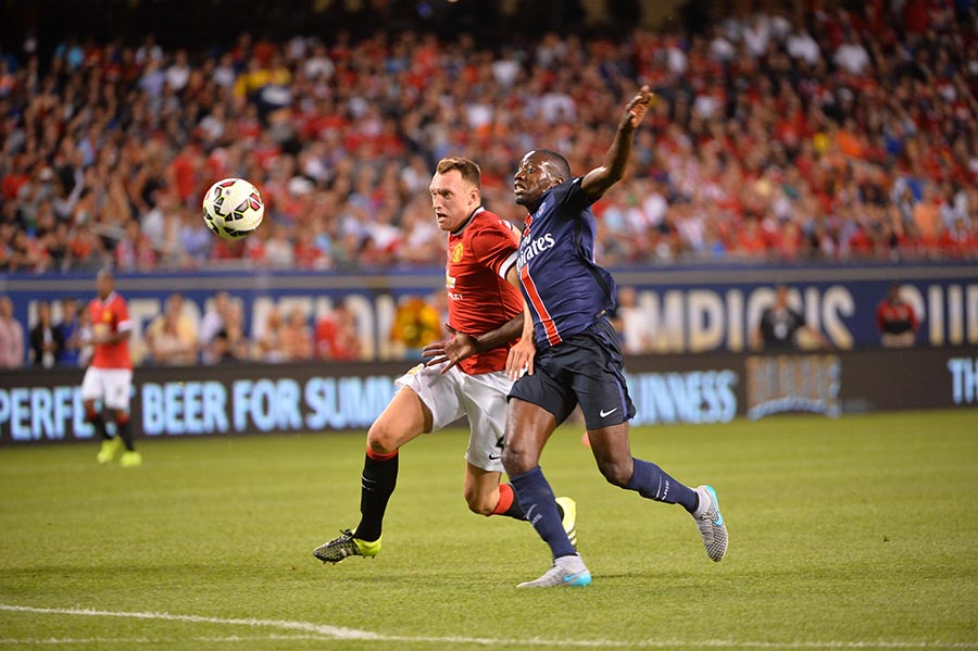 29 July 2015 - International Champions Cup - PSG v Manchester United FOOT - INTERNATIONAL CHAMPIONS CUP - 2015 jones (phil) augustin (jean kevin)