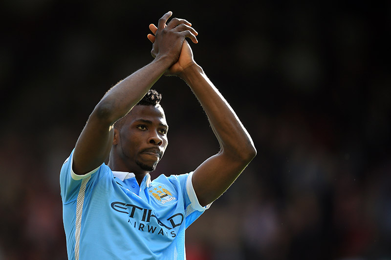 12 September 2015 - Barclays Premier League - Crystal Palace v Manchester City - Kelechi Iheanacho of Manchester City applauds - Photo: Marc Atkins / Offside.