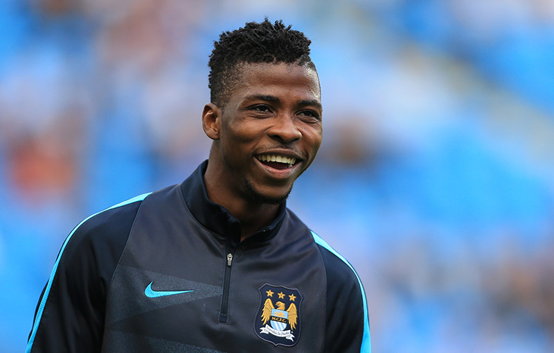 19th September 2015 - Barclays Premier League - Manchester City v West Ham United - Kelechi Iheanacho of Man City during the warm-up - Photo: Simon Stacpoole / Offside.