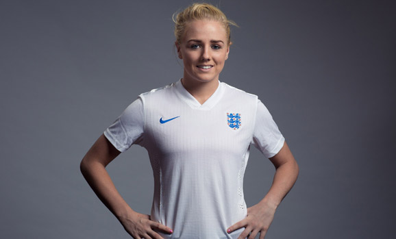 BURTON-UPON-TRENT, ENGLAND - JULY 31:  Alex Greenwood of England poses for a portrait at St Georges Park on July 31, 2014 in Burton-upon-Trent, England.  (Photo by Tom Shaw - The FA/The FA via Getty Images)