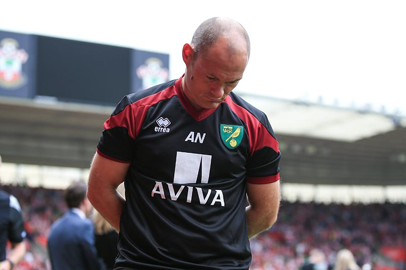 30 August 2015 - Barclays Premier League - Southampton v Norwich City - Alex Neil, Manager of Norwich City - Photo: Marc Atkins / Offside.