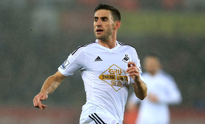 14 December 2014 - Barclays Premier League - Swansea City v Tottenham Hotspur - Angel Rangel of Swansea City - Photo: Marc Atkins / Offside.