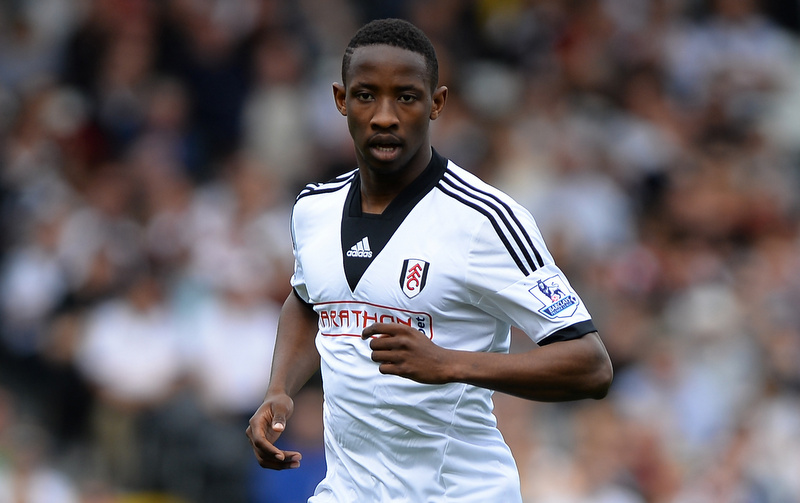 30 March 2014 - Barclays Premier League - Fulham v Everton - Moussa Dembele of Fulham - Photo: Marc Atkins / Offside.