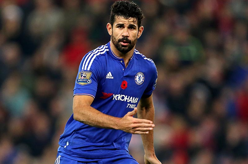 7th November 2015 - Barclays Premier League - Stoke City v Chelsea - Diego Costa of Chelsea - Photo: Paul Roberts / Offside.