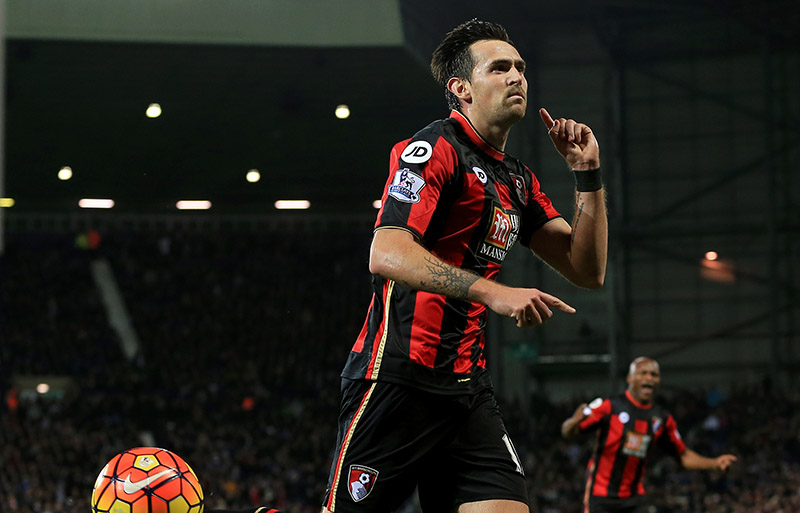 19th December 2015 - Barclays Premier League - West Bromwich Albion v AFC Bournemouth - Charlie Daniels of AFC Bournemouth celebrates after scoring from the penalty spot (1-2) - Photo: Paul Roberts / Offside.