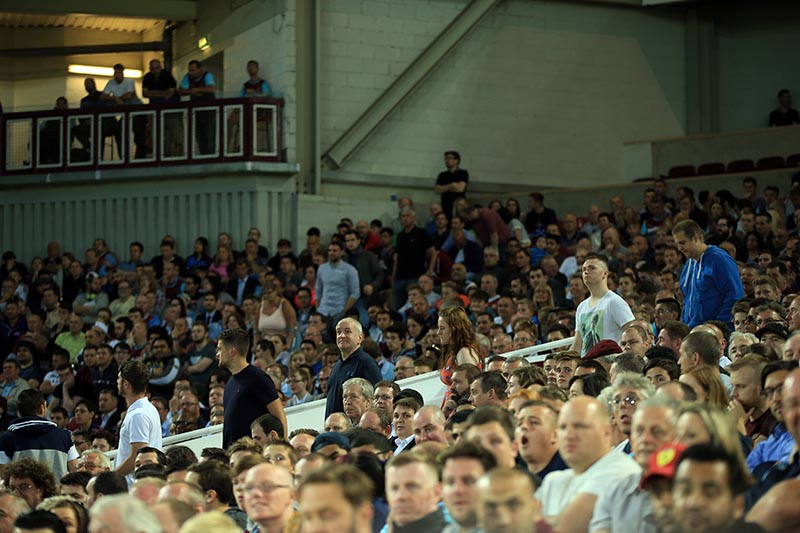 16 July 2015 - UEFA Europa League - Qualifying 2nd Round (1st Leg) - West Ham v Birkirkara FC - A steady stream of fans leaving the game early - Photo: Marc Atkins / Offside.