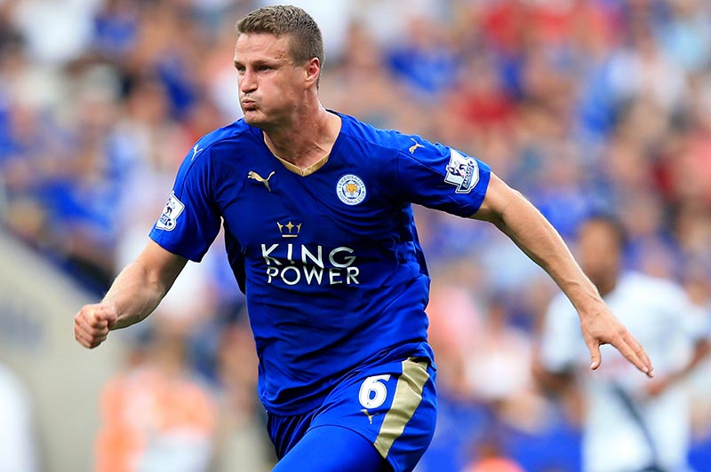 22 August 2015 - Barclays Premier League - Leicester City v Tottenham Hotspur - Robert Huth of Leicester City - Photo: Marc Atkins / Offside.