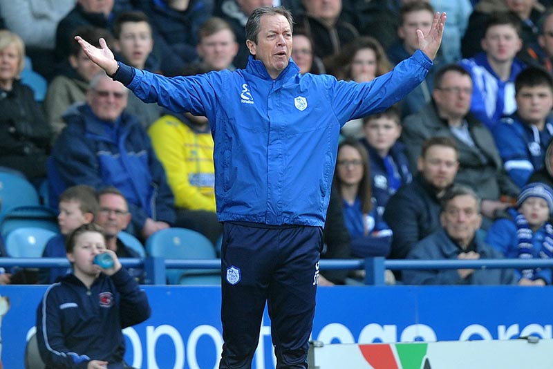 Sheffield Wednesday vs Huddersfield Town ,Skybet Championship @ Hillsborough 4thApril  2015 Photo: Steve Parkin Sheff Wed's  Boss Stuart Gray