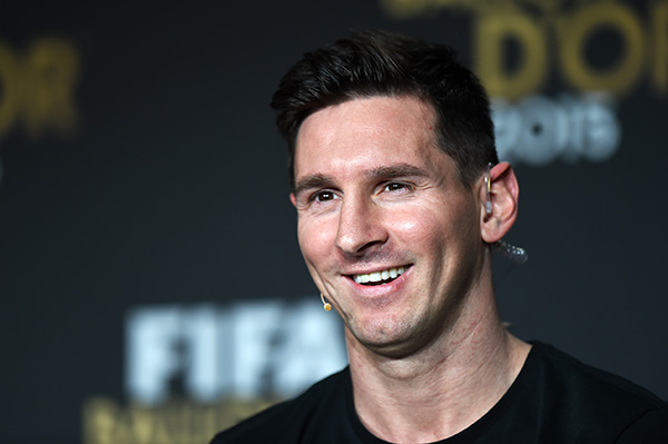 11 January 2016 - Ballon d'Or Lionel Messi of Argentina Photo: Offside / EQ Images