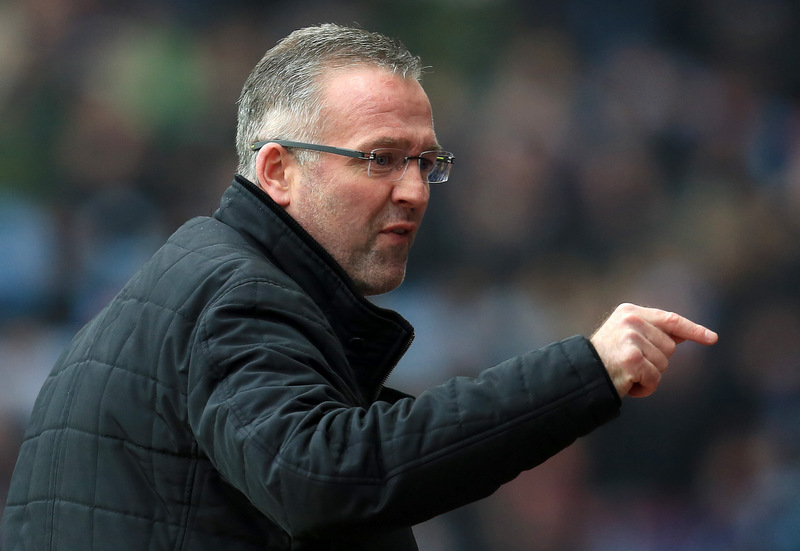 7th February 2015 - Barclays Premier League - Aston Villa v Chelsea - Aston Villa manager Paul Lambert points an accusing finger at the Chelsea bench - Photo: Paul Roberts / Offside.