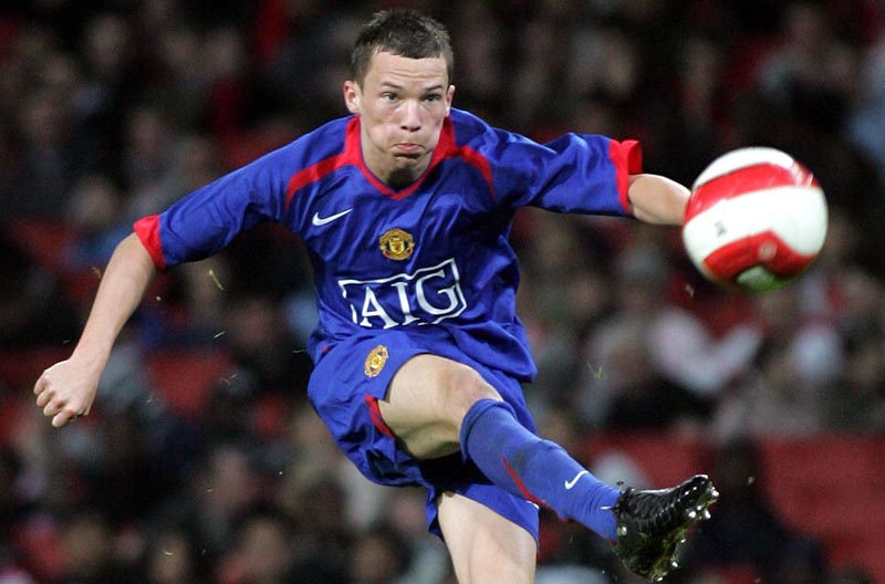 14/3/2007 FA Youth Cup Semi-Final. 1st Leg. Arsenal v Manchester United. Daniel Drinkwater. Photo: David Wilkinson / Offside.