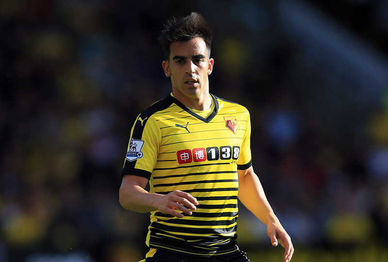 27 September 2015 - Barclays Premier League - Watford v Crystal Palace - Jose Manuel Jurado of Watford - Photo: Marc Atkins / Offside.